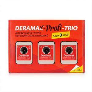 Deramax-Profi-Trio odpuzovač, sada plašičů kun a hlodavců