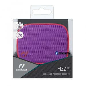 Bezdrátový reproduktor CELLULARLINE FIZZY, AQL® certifikace, růžovo-fialový