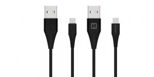 DATOVÝ KABEL SWISSTEN USB / USB-C 3.1 ČERNÝ 1,5M (9mm)
