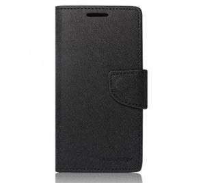 Pouzdro typu kniha pro Huawei Y6 II, Honor 5A, černá (BULK)