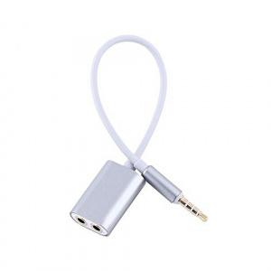 Adaptér sluchátek 3,5mm jack / 2x 3,5mm hnízdo - mix barev