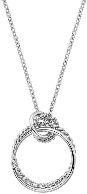 Stříbrný náhrdelník s pravým diamantem Jasmine DP735