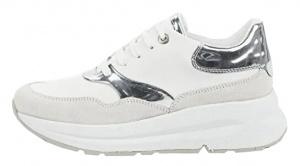 Dámské tenisky D Backsie White/Silver D02FLC-085BN-C0007