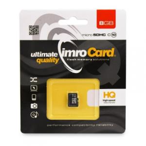Paměťová karta micro SD IMRO 8GB Class 10 Blistr
