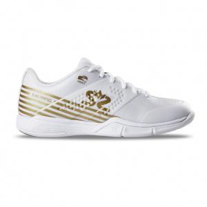 Salming Viper 5 Shoe Women White/Gold, 3,5 UK - 36 EUR - 22,5 cm