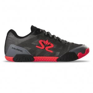 Salming Hawk Shoe Men GunMetal/Red, 9 UK - 44 EUR - 28 cm