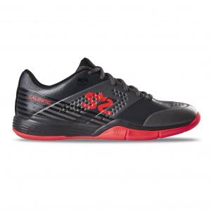 Salming Viper 5 Shoe Men GunMetal/Red, 9,5 UK - 44 2/3 EUR - 28,5 cm
