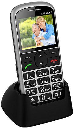 myPhone 1011 SENIOR - CPA Halo 11, stříbrný