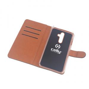 Pouzdro typu kniha CELLY Wally pro Nokia 7 Plus, PU kůže, černé
