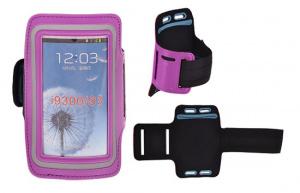 Pouzdro na ruku velikost 4,5´´ - iPhone 3G, 3GS, 4, 4S barva fialová