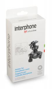 Polohovatelný držák pro tubulární řídítka Interphone vhodný pro vybraná pouzdra řady SM