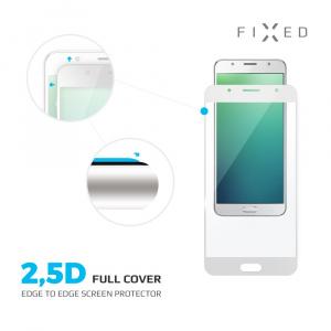Ochranné tvrzené sklo FIXED Full-Cover pro Nokia 3, přes celý displej, bílé, 0.33 mm