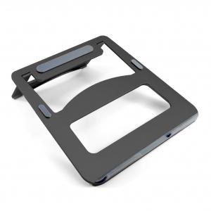 Přenosná hliníková podložka pod notebook Desire2, černá,rozbaleno