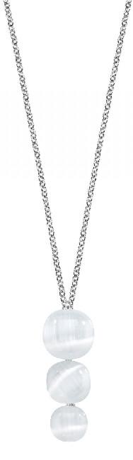 Krásný náhrdelník zdobený kočičím okem SAKK22 (řetízek, přívěsek)