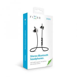Stereo Bluetooth sluchátka FIXED Steel, A2DP, černá