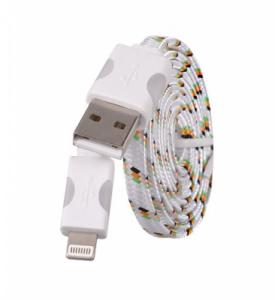 Datový kabel iPhone 5, 5S, 5C, 6, 6S, 6Plus, 7, 7Plus, 8, 8Plus, X - Svítící barva bílá