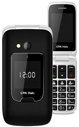 myPhone 1015 SENIOR - CPA Halo 15, černý + nabíjecí stojánek (véčko)