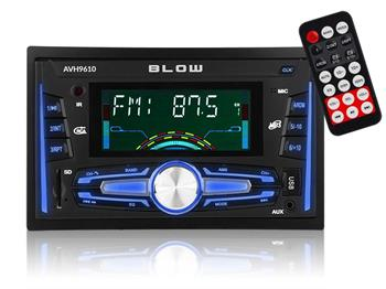 BLOW AVH 9610 - Autorádio 2 DIN,Bluetooth, MP3, FM, AM, RDS, USB
