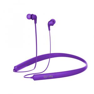 Bluetooth ergonomická stereo sluchátka CELLY NECK, dlouhá výdrž baterie, multipoint, fialová