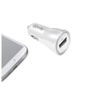 CL autonabíječka CELLY s USB výstupem, 1A, bílá