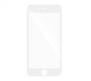Tvrzené sklo 5D pro Samsung Galaxy A3 2017 (SM-A320), plné lepení, bílá