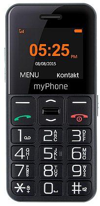myPhone SENIOR - CPA Halo EASY, Black / černý
