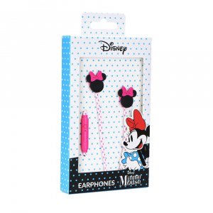 Hands Free Disney Minnie mouse hlava 3D 3,5 mm jack, barva černá/růžová