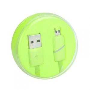 Datový kabel BOX micro USB barva zelená