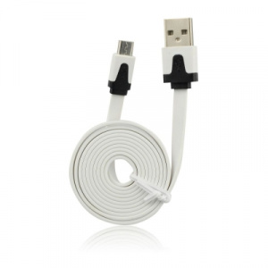 Datový kabel micro USB barva bílá