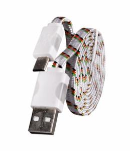 Datový kabel micro USB - Svítící barva bílá