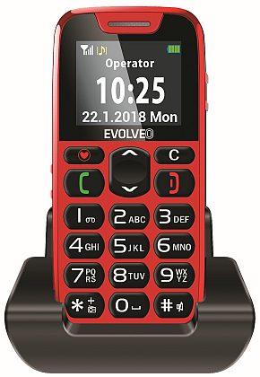 Evolveo EP-500 EasyPhone, Red pro seniory + nabíjecí stojánek