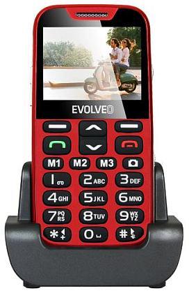 Evolveo EP-600 EasyPhone XD, Red pro seniory + nabíjecí stojánek