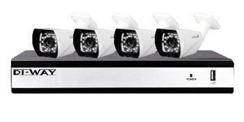 DI-WAY AHD Kamerový kit 4x720P@25fps, 20-25M, 3.6mm