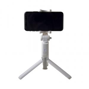 Selfie tyč s Bluetooth ovladačem a stojánkem CELLY Propod, bílá,rozbaleno