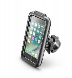 Voděodolné pouzdro Interphone pro Apple iPhone 8/7/6/6S, úchyt na řídítka, černé