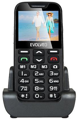 Evolveo EP-600 EasyPhone XD, Black pro seniory + nabíjecí stojánek