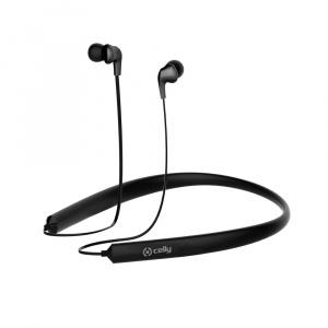 Bluetooth ergonomická stereo sluchátka CELLY NECK, dlouhá výdrž baterie, multipoint, černá