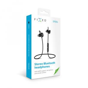 Stereo Bluetooth sluchátka FIXED Steel, A2DP, stříbrná