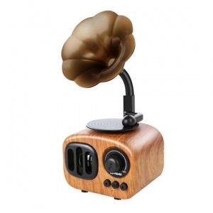 Mini reproduktor BlueTooth + radio Retro (B7), barva světle hnědá