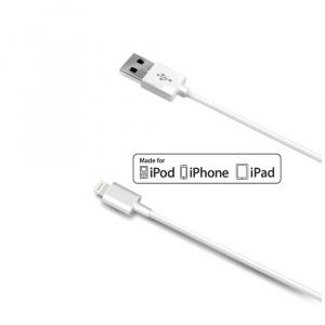 Datový USB kabel CELLY pro přístroje Apple s konektorem Lightning, bílý