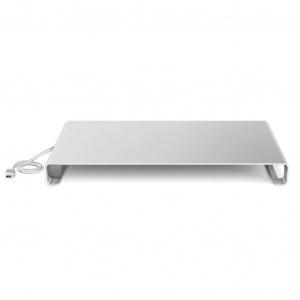 Univerzální hliníkový podstavec pod monitor Desire2, s USB-C portem, stříbrný