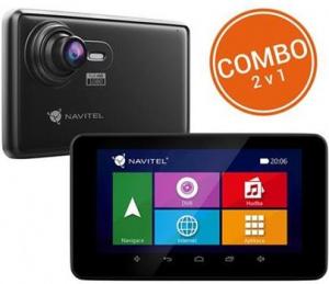 "Kamera a navigace Navitel RE900 Black - kamera + navigace do auta, 5"" FullHD, 140°, G-sen. WiFi+3G, GPS"