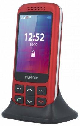 myPhone HALO S Red / červený + nabíjecí stojánek (výsuvný)