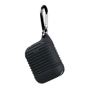 Pouzdro pro AirPods typ 2, barva černá s karabinou