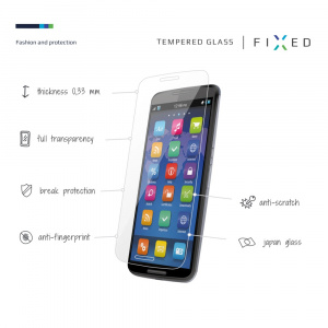 Ochranné tvrzené sklo FIXED pro Apple iPhone 5/5S/SE/5C, čiré