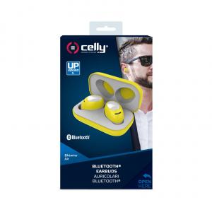 True Wireless sluchátka CELLY Twins Air, žlutá