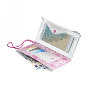 Voděodolné pouzdro s peněženkou Cellularline VOYAGER POCHETTE do velikosti 6,3