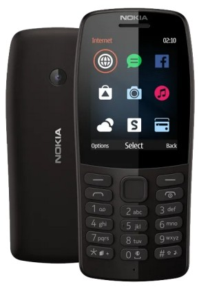 Nokia 210 DS Black (dualSIM) 2019