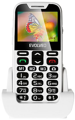 Evolveo EP-600 EasyPhone XD, White pro seniory + nabíjecí stojánek