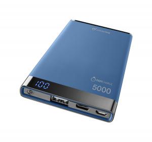 Prémiová powerbanka CellularLine FREEPOWER MANTA S, 5000mAh, USB-C + USB port, modrá